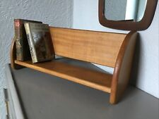 Vintage Solid Light Wood Large Book Trough Desk Shelf #6279