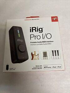 IK Multimedia iRig Pro I/O instrument/mic audio interface for iPhone+iPad+Mac/PC