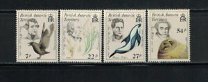British Antarctic Territory 1985: #125-128 Naturalists NH; Science: Lot#12/27