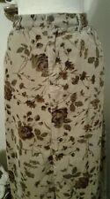4b4f53445a Eddie Bauer Womens 12 Maxi Skirt Beige Brown Floral Pockets Corduroy Modest
