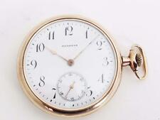 Agassiz 14K gold filled side winder pocket watch 48