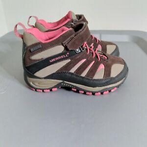 Merrell Chameleon 7 Limit Toddler Kids Size 10 Shoes Brown/Black Strap Athletic