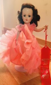 Vintage Mary Hoyer Doll. Autographed By Mary Hoyer. Mary Hoyer Dress and Stand.