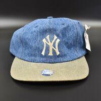 New York Yankees Logo 7 Vintage 90's Dad Hat Adjustable Strapback Cap Hat - NWT