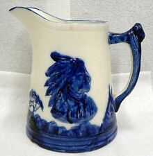 "OLD VINTAGE MONMOUTH ? STONEWARE SLEEPY EYE 8"" PITCHER"
