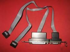 Slotblech mit 2 x seriell Schnittstelle DB9 DB25 COM1 Com2 extern RS232