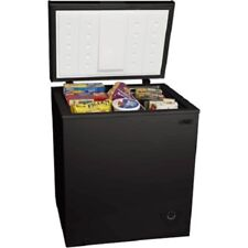 5 cu ft Chest Freezer Black estimated 218 kilowatts/year stock up on meat sales
