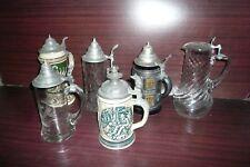 Konvolut Krüge Glas u. Keramik Sammlung
