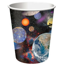 Space Blast  8 9 Oz Paper Hot Cold Cups Rocket Birthday Party