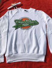 Vintage Tombstone Pizza Crewneck Sweatshirt Sz L Promo Hip Hop 90s 80s Rare New