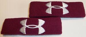 """UNDER ARMOUR Wristband UA 1"""" - 3/4"""" - 1/2"""" Performance Oversized Unisex 2-Pack"""