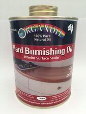 Organoil Hard Burnishing Oil for timber benches Timber Sealer - 1 litre
