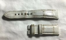For Chronograph Avenue 19Mm/16Mm Short Harry Winston White Alligator Watch Strap