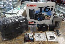 Canon EOS Rebel T6i 24.0MP Digital SLR Camera - Black (Kit w/ EF-S IS STM 18-55m