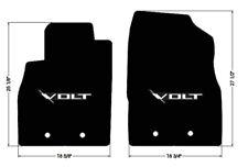 NEW! FLOOR MATS 2011-2015 Chevy Volt BLACK W/ Embroidered VOLT Emblem Logo Pair