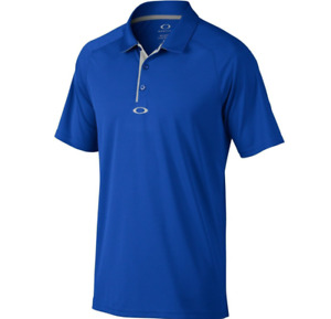Oakley Hydrolix - Elemental Mens Polo Golf Shirt - Electric Shade Blue  S Small