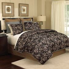 Croscill Palmer Black/pale Gold/Brown 7pc Queen Comforter Set