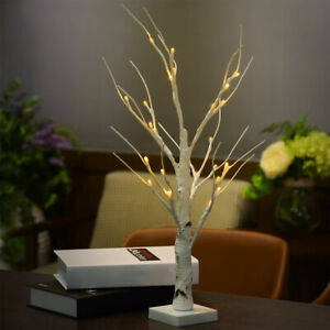 White Branches Durable Indoor Warm White LED Light Silver Birch Twig Tree Home
