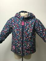 GIRLS JOJO MAMAN BEBE MULTI COLOUR QUILTED COAT JACKET KIDS AGE 18-24 MONTHS