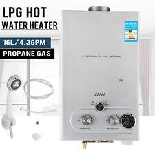 16L Warmwasserspeicher Durchlauferhitzer automatische Zündung Gas Propangas