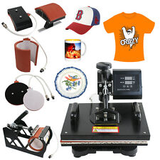 5 in 1 Transfer Sublimation T-Shirt Mug Hat Plate Cap Heat Press Machine