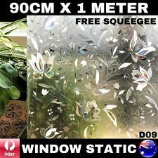90CM x 1M Static Cling Glueless Reusable Removable Privacy Window Glass Film D09