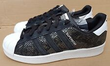GORGEOUS ADIDAS SUPERSTAR II SNAKE PACK BLACK SIZE 6 UK EXCELLENT CONDITION