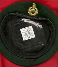 RM GREEN BERET WITH THE CORPS BRASS BADGE SIZE 57 . AS UNWORN