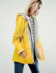 Yellow Raincoat Waterproof Unixex Ladies Mens Fishermans Jacket Vintage Retro