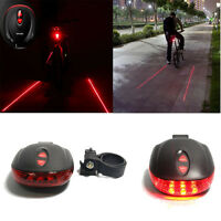 2 Laser +5 LED flashing lamp Rear Cycling Bicycle Bike Safety Warning Tail Light