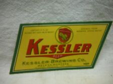 Kessler Irtp 4% 12 Oz Beer Label~Kessler Brg.,Helena,Montana