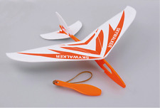New 1 Set Rubber Band Hand-Launch Glider Plane AirPlane  TH028-017 Orange