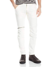 G-Star Raw Men's 5620 3D Zip Knee Slim Fit Stretch Jeans, White, 30W x 30L