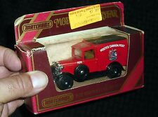 1984 MATCHBOX DIE-CAST *POSTES CANADA POST* 1930 MODEL A FORD NEW IN BOX!! 91115
