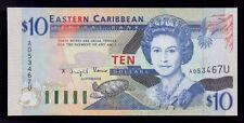 B-D-M East Caribbean St. Anguilla 10 Dollars 1994 Pick 32u SC UNC