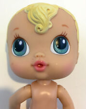 Baby Alive Crib Life Doll by Hasbro Retired Blue Eyes Blonde Hair