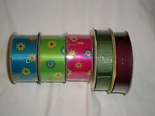 Summer Brand Ribbon and Michaels Ribbon Lot of 5 Multi-colored