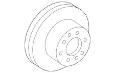 Genuine Toyota Disc Brake Rotor 43512-08040