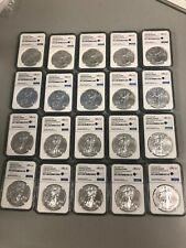 Lot of 20 Silver 2015 American Eagle 1 oz. .999 fine Ngc eBay Label 1oz Coins