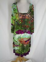 Peace and Love Knit Layered Dress Ruched XL Low Pockets