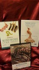 3 x DVD's Jewellery Making, Wirework Alison Tarry, Claire Macdonald, Rachel Norr