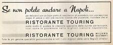 W1573 Ristorante Touring - Milano - Pubblicità del 1938 - Old advertising