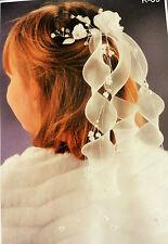 Kommunionkranz Ivory Haarkranz Exklusiv Haarschmück Hohzeit Kopfschmück NEU K09