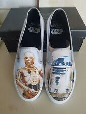 NEW! Sperry Star Wars Cloud Slip On Droids C3PO R2D2 Mens Shoes Size 10 M