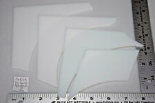 Lot 2 As Pictured All White System 96 coe Spectrum Glass 1/2 Pound 3mm Scrap
