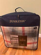 NIP PENDLETON HOME RIDGEWAY 3 Pcs KING COMFORTER + 2 SHAMS PLAID Grey Red Beige