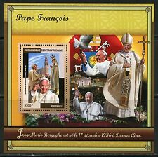 CENTRAL AFRICA 2017 POPE FRANCIS  SOUVENIR SHEET MINT NH