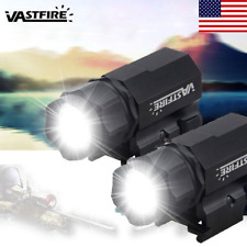2 Set Tactical 5000LM Pistol LED Flashlight Torch Light Gun Light Picatinny Rail