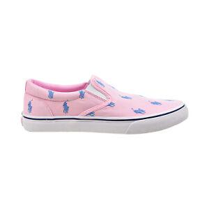 Polo Ralph Lauren Thompson Logo Printed Slip-On Men's Shoes Pink 816840601-004