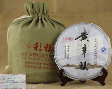 357g cake CaiCheng raw puerh tea raw puer tea green tea HuangCaoBa Year 2013